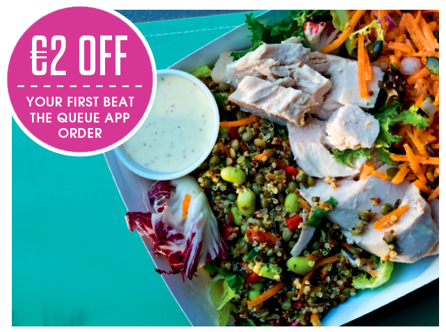 Centra Beat the Queue - €2 off your first app or online order