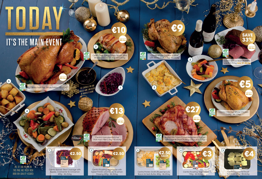 The Main Event - Centra has all your Christmas Dinner essentials
