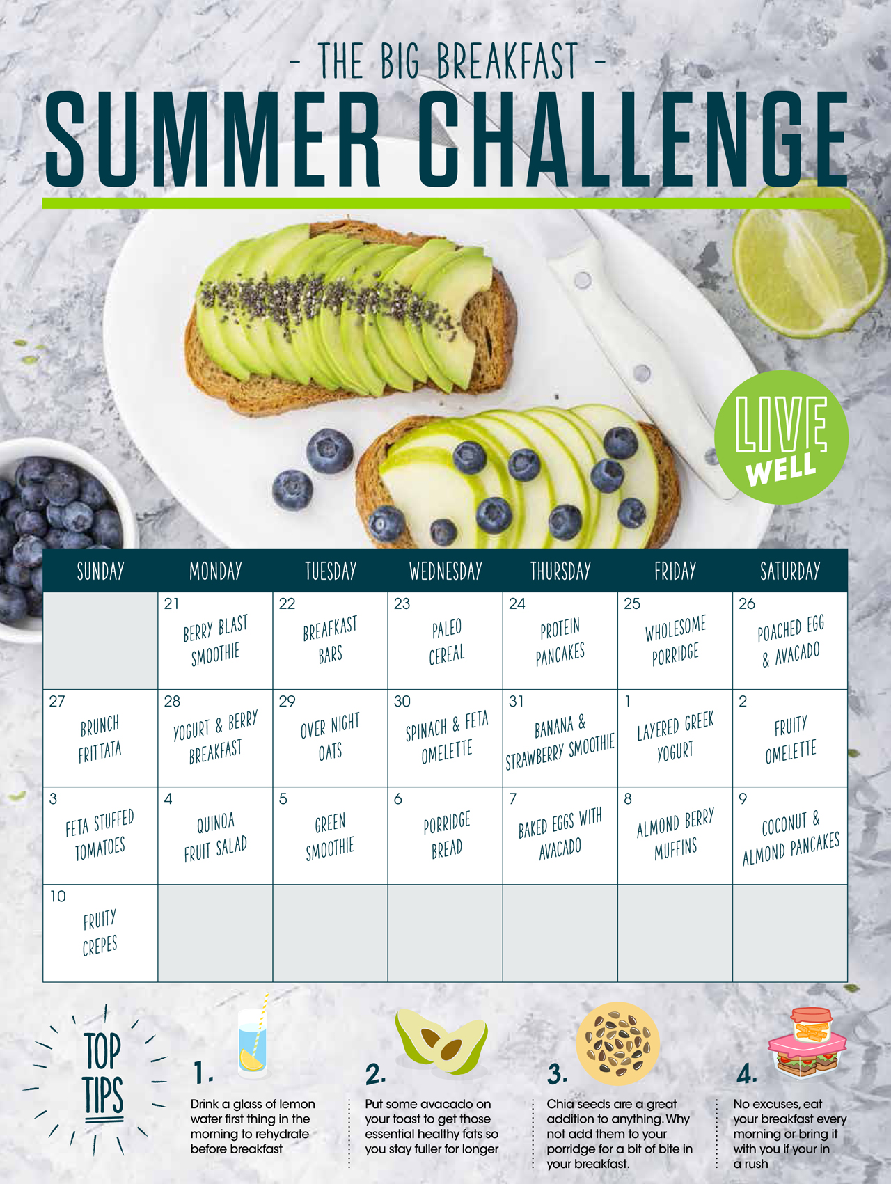 The Big Breakfast Summer Challenge