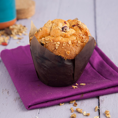 Mixed Berry Granola Muffin