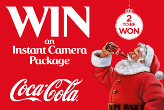 Fancy winning an Instant Camera package courtesy of Coca-Cola this Christmas?
