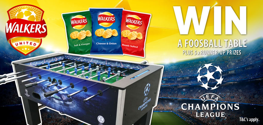 WIN a foosball table with Walkers