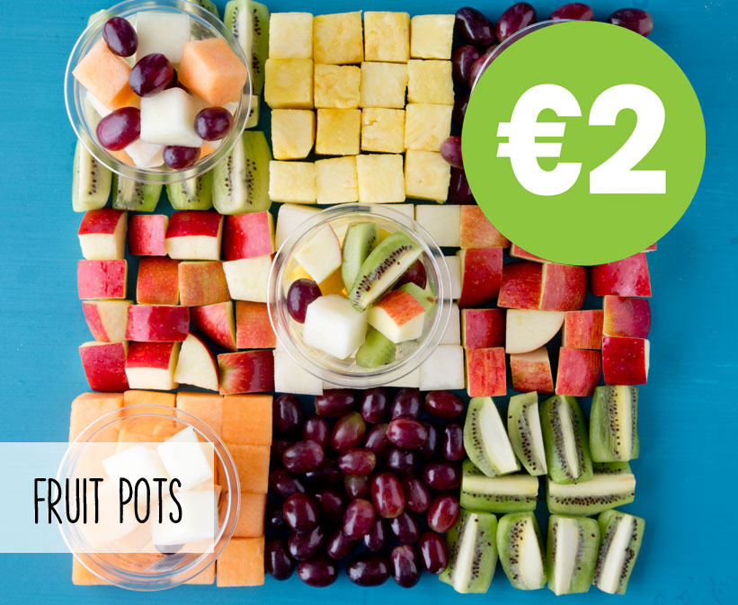 FRUIT POTS - Only €2 - Ideal snack on the go & one of your 5 a day.