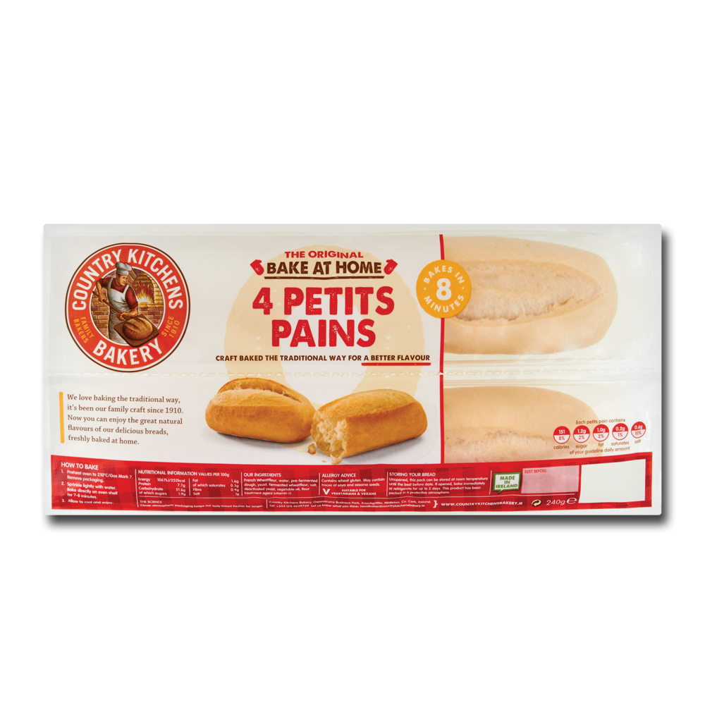 Country Kitchen Bake At Home Petit Pains 4's 240g