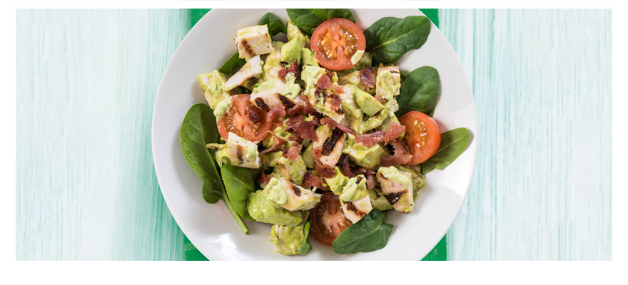 Chicken bacon salad 880x400