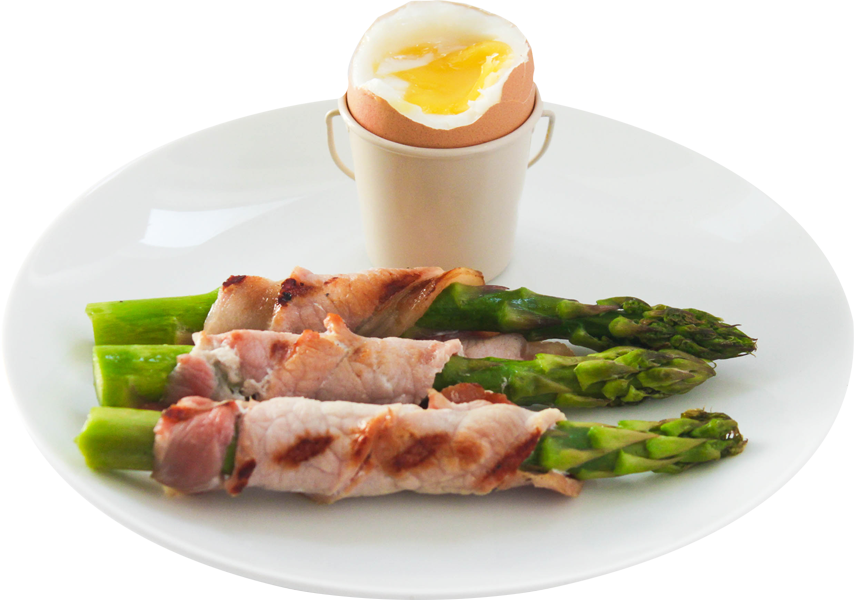 Asparagus Soldiers with egg