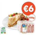 Centra Fresh Irish Basted Pork Chops Twin Pack 2 x 425g
