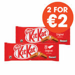 Nestle KitKat 2 Finger Milk 8 Pack 166g