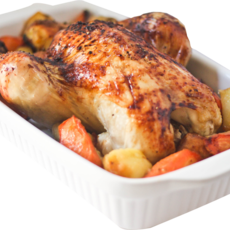 Honey and lemon roast chicken