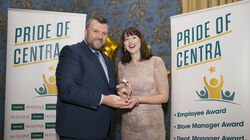 Elaine Kirwan (Store Manager Winner) with MRPI HR Director Luke Hanlon