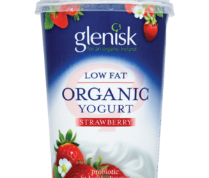 Glenisk Organic Strawberry Low Fat Yogurt 450g