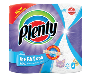 Plenty The Fat One Fun Prints 4 Kitchen Rolls