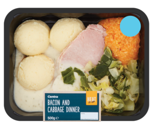 Centra Heat it Up Bacon and Cabbage Dinner 500g