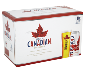 Molson Canadian Lager Beer Fridge Pack 8 x 500ml