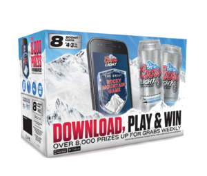 Coors light 8x500ml Promo 3D