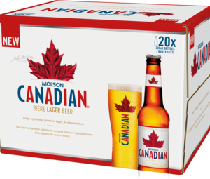 Molson Canadian bottle 20pk