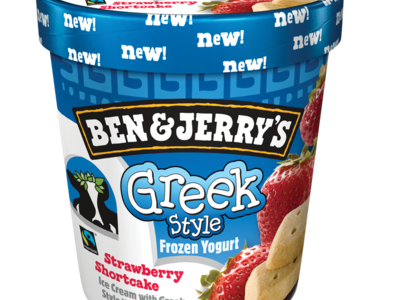 Ben   Jerry s Greek Style Strawberry Shortcake Fro