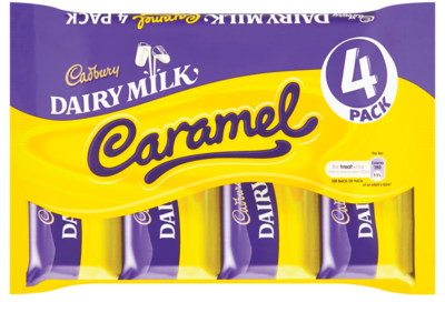 Cadbury Dairy Milk Caramel Chocolate Bar 4pack
