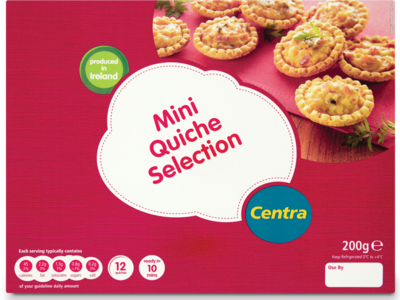 Centra MiniQuicheSelection 200g