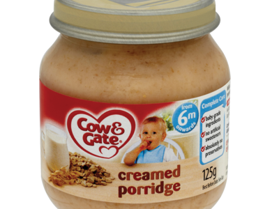 Cow   Gate Creamed Porridge from 6m Onwards 125g
