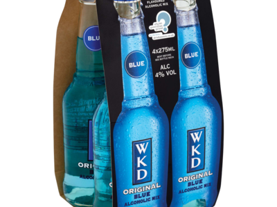 WKD Original Blue Alcoholic Mix 4 x 275ml