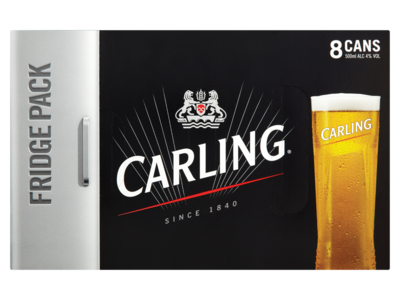Carling Lager Fridge Pack 8 x 500ml