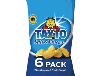 Tayto Salt   Vinegar Flavour Potato Crisps 6 Pack