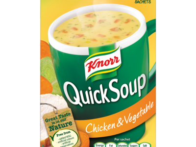 Knorr Quick Soup Chicken   Vegetable 4 Sachets 56g
