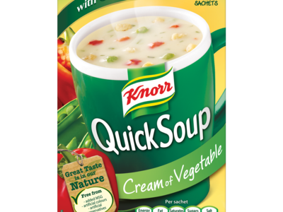 Knorr Quick Soup Cream of Vegetable with Croutons 3 Sachets 58g