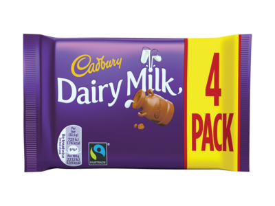 Cadbury Dairy Milk 4 Pack 130g