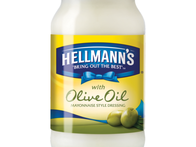Hellmann s with Olive Oil Mayonnaise Style Dressing 400g