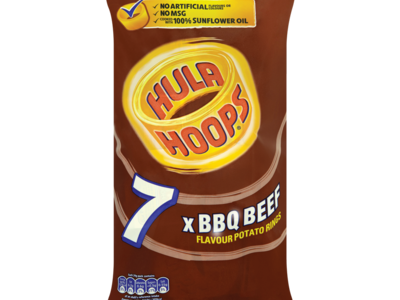 Hula Hoops BBQ Beef Flavour Potato Rings 7 x 24g