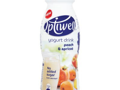 Optiwell Peach and Apricot Yogurt Drink 330ml