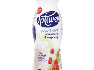 Optiwell Yogurt Drink Strawberry   Raspberry 330ml
