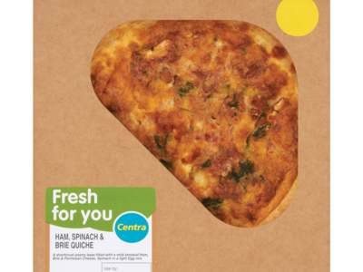 Centra Fresh for You Ham  Spinach   Brie Quiche 400g