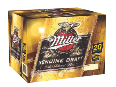 New Miller 20pk Bottle
