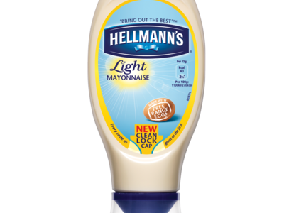 Hellmanns Light Squeezy Mayonnaise 430ml