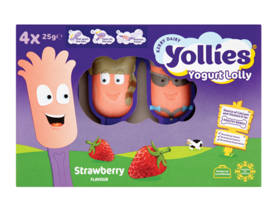 Kerry Yollies Strawberry 4pk