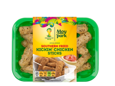 Moy Park Southern Fried Kickin Chicken Sticks