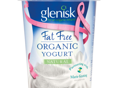 Glenisk Organic Fat Free Yogurt Natural 500g