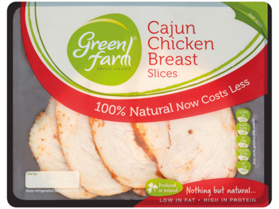 Green Farm Fresh Foods Cajun Chicken Breast Slices 120g