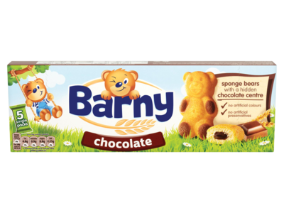 Barny Chocolate Sponge Bear 5 Packs 150g