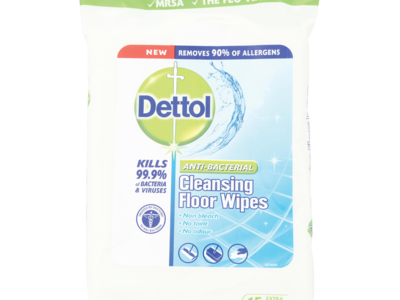 Dettol Anti Bacterial Cleansing Floor Wipes 15 Ext