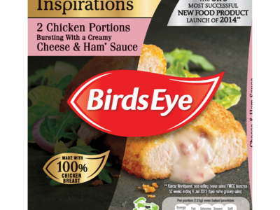 Birds Eye Inspirations 2 Chicken Portions Bursting with a Creamy Cheese   Ham Sauce 240g
