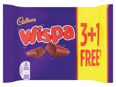 Cadbury Wispa 3 1 Free Chocolate Bar 120g