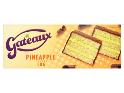 Gateaux Pineapple Flavour Log 210g