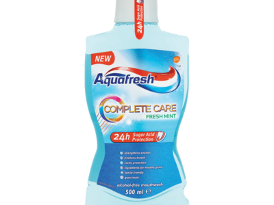 Aquafresh Complete Care Fresh Mint Alcohol Free Mouthwash 500ml