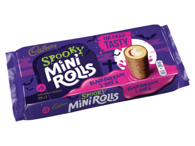 Cadbury 5 Spooky Mini Rolls Blackcurrant Bite