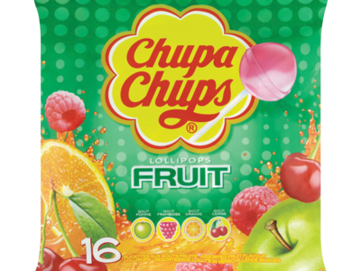 Chupa Chups Lollipops Fruit 16 Assorted Fruit Flavour Lollipops 192g