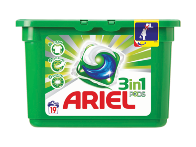Ariel 3 in 1 PODS Regular Washing Capsules Liquitabs 19 washes